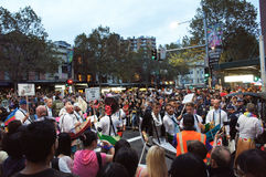 Mardi Gras Parade Sydney 2014 Foto de archivo libre de regalías