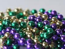Mardi Gras parelt dicht omhoog Royalty-vrije Stock Fotografie