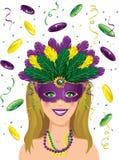 Mardi Gras Party Royaltyfri Fotografi