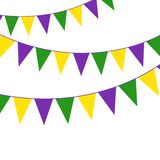 Mardi Gras party bunting Stock Photography