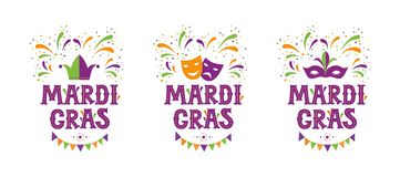 Mardi gras carnival party design royalty free stock image