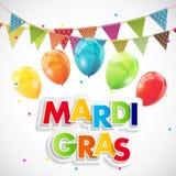 Mardi Gras Party Holiday Poster bakgrund också vektor för coreldrawillustration Royaltyfri Foto