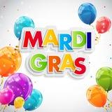 Mardi Gras Party Holiday Poster bakgrund också vektor för coreldrawillustration Royaltyfri Fotografi