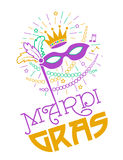 Mardi Gras Party Mask Poster stock image