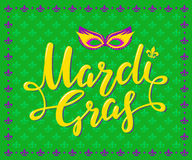 Mardi Gras Party Poster Photo libre de droits