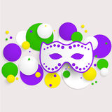 Mardi Gras party poster design. Template of poster. Stock Image