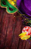 Mardi Gras: Party Wear And Hurrican Cocktail Background Royalty Free Stock Images
