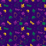 Mardi Gras Pattern Stock Photography