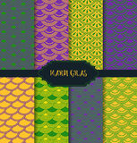 Mardi Gras pattern backgrounds Royalty Free Stock Image
