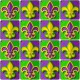 Mardi Gras  pattern. Fleur de lis  seamless Mardi Gras pattern Stock Image