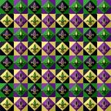 Mardi Gras pattern Stock Image