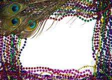 Mardi Gras Peacock Feathers Stock Photos