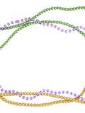Mardi Gras perla o fundo com lugar para o texto Vista superior foto de stock royalty free