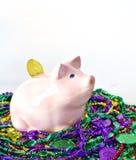 Mardi Gras Pig Stock Image