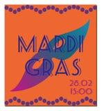Mardi Gras-Plakat Stockfotografie