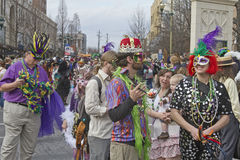 Mardi Gras Pomp and Revelry Stock Photography
