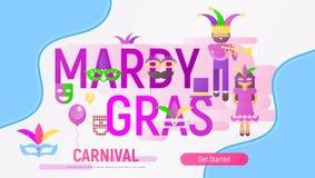 Mardi Gras Poster royalty free stock image