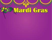 Mardi Gras Poster Template con las gotas y la máscara Fotos de archivo libres de regalías