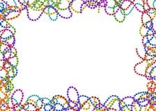 Mardi Gras pryder med pärlor Royaltyfri Foto