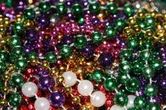 Mardi Gras pryder med pärlor royaltyfria foton