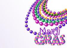 Mardi Gras pryder med pärlor bakgrund Royaltyfri Foto
