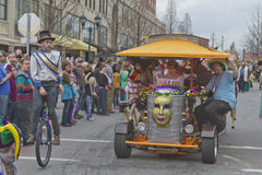 Mardi Gras PubCycle in the Parade Stock Photos