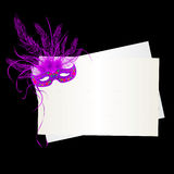 Mardi Gras purple mask Stock Photos
