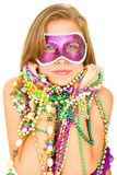 Mardi Gras Queen In Mask Stock Photography