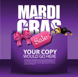 Mardi Gras sale shopping bag background. Stock Photography