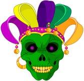 Mardi Gras-schedel royalty-vrije illustratie