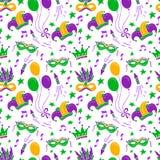 Mardi Gras seamless pattern royalty free stock photography