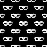 Mardi Gras seamless pattern with carnival masks. Mardi Gras endless background, texture, wrapper. Royalty Free Stock Image