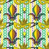 Mardi Gras seamless pattern Stock Photos