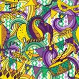 Mardi Gras seamless pattern Stock Image