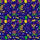 Mardi Gras seamless pattern royalty free stock photos