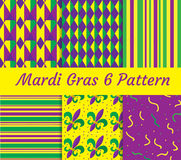Mardi Gras seamless pattern set. Collection of digital paper, background, texture. Royalty Free Stock Images