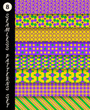 Mardi gras seamless patterns. Carnival backgrounds royalty free stock photography