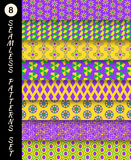 Mardi gras seamless patterns. Carnival backgrounds Royalty Free Stock Photos
