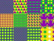 Mardi Gras seamless patterns Stock Image