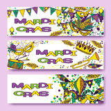 Mardi Gras or Shrove Tuesday cards Royalty Free Stock Images