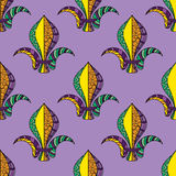 Mardi Gras or Shrove Tuesday seamless pattern Royalty Free Stock Photo