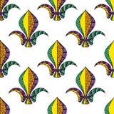 Mardi Gras or Shrove Tuesday seamless pattern royalty free stock photos