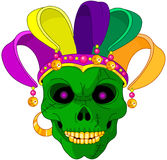 Mardi Gras skull. Illustration of Mardi Gras skull mask Royalty Free Stock Photography