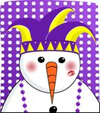 Mardi Gras Snowman Royalty Free Stock Photo
