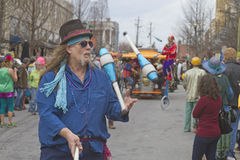 Mardi Gras Street  Juggler Royalty Free Stock Photos