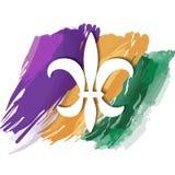 Mardi Gras symbol fransk lilja vektor illustrationer