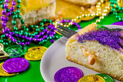 Mardi Gras. Table decorated for Mardi Gras party royalty free stock images