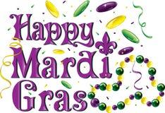 Mardi Gras _text_2 royaltyfri illustrationer