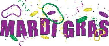 Mardi Gras text royaltyfri illustrationer