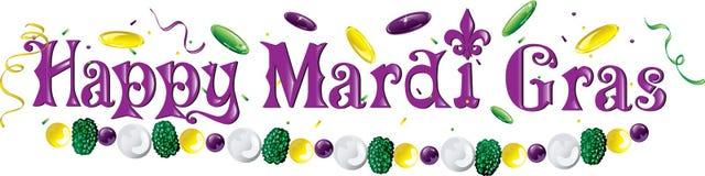 Mardi Gras text Fotografering för Bildbyråer